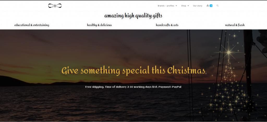 Web site screen shoot nautica-gifts